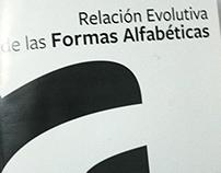 Relación Evolutiva de la Formas Alfabéticas