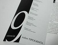 9 Referencias sobre tipografía