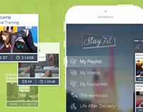 Stay Fit iOS7 Minimal Design