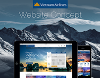 Vietnam Airlines Website Concept