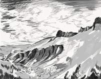 iPad sketch - Schluchhorn mountain