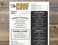 The Roof Menu and Coaster Design