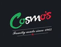 Cosmo's Pizza Packaging and Brand Identity design