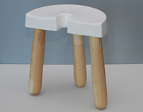 Hall Stool with Shoehorn