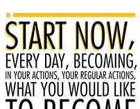Start Now Typography