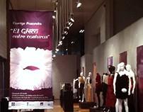 Montaje de la exposición ¨El Greco entre costuras¨