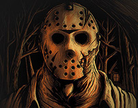"""Welcome to Camp Crystal Lake"" Prints"