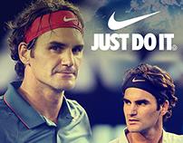 Roger Federer Nike Poster Work
