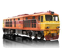 SRT Alsthom (thai locomotive), 3D Model