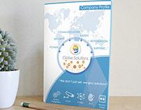 Company Profile / Brochure design for Globe Solutions