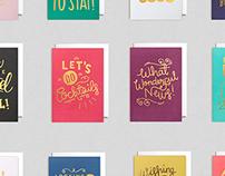 Lagom Hand Lettered Cards