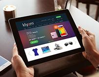 Klyom responsive e-commerce website design!