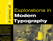 Explorations in Modern Type
