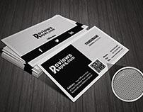 Black & White Texture Design Business Card Template