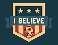 """I Believe"" Soccer Graphic"