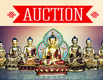 Auction Poster: Medicine Buddha Statues