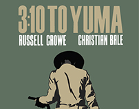 3:10 To Yuma Simplistic Movie Poster