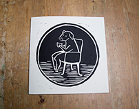 The secret life of a pig - linocuts