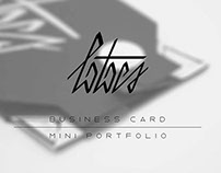 Business Card/Mini Portfolio
