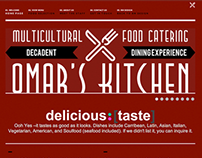 Logo & Responsive Web Design – Omar's Kitchen