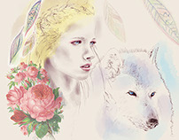 Women Who Run With the Wolves. Cover book illustration