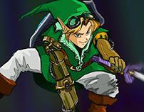 Steampunk Link VS Dark Link