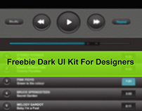 Dark UI Kit For Designers