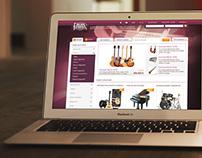 CSERMAK - Music webshop design