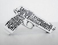 3D Typography Gun