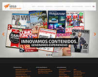 Website proposal: Iasa Comunicación