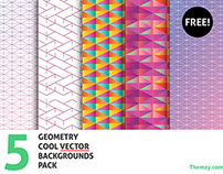 Vector Geometry Backgrounds – Cool Pack (Free Download)