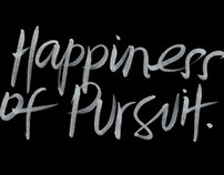 The Happiness of Pursuit - Lettering