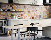 Kitchen tile visualization