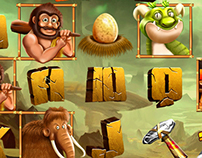 Game art for Slot game : Stone Age