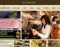 All Bar One website