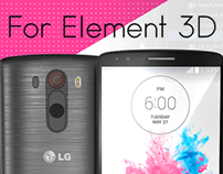 LG G3 3D model for Video Copilot's Element 3D