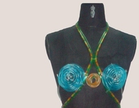 Wearable art - Recycling hospital used material