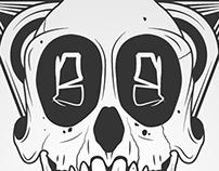 Skull, monkey, beard!