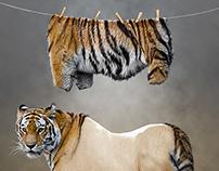 Photo manipulation - Tiger Undressed