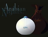 ARABIAN NIGHTS PERFUME BOTTLE DESIGN