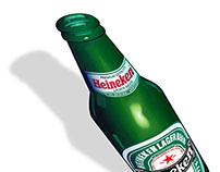 Heineken illustration - School project