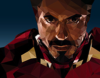 Iron Man | Low poly illustration