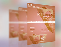 Ice Cream Social Flyer Design