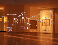 """Pigeons"" video projection - installation"