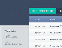 Internal Sales Team Application - User Interface Design