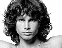 Digital Painting of a young Jim Morrison