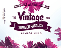 Sun & Palms Poster