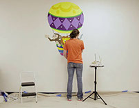 "Ikaros Art ""Hot Air Balloon Mural"" Time-Lapse Video"