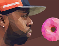 J Dilla- low poly portrait