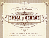 Emma & George | Wedding Invitation
